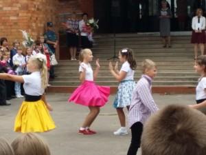 Танец учеников на 1 сентября в ППК в городе Пскове.